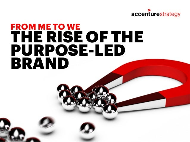THE RISE OF THE PURPOSE-LED BRAND FROM ME TO WE