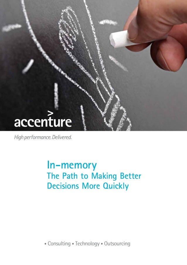Title of brochureIn-memoryThe Path to Making BetterDecisions More Quickly