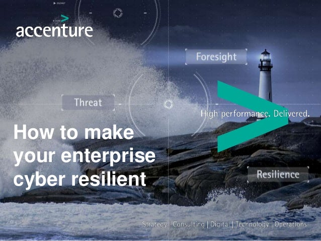 How to make your enterprise cyber resilient