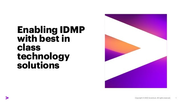 Enabling IDMP with best in class technology solutions