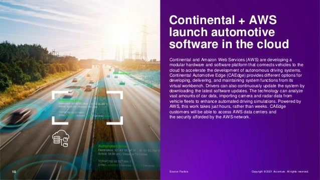 Continental + AWS launch automotive software in the cloud Continental and Amazon Web Services (AWS) are developing a modul...