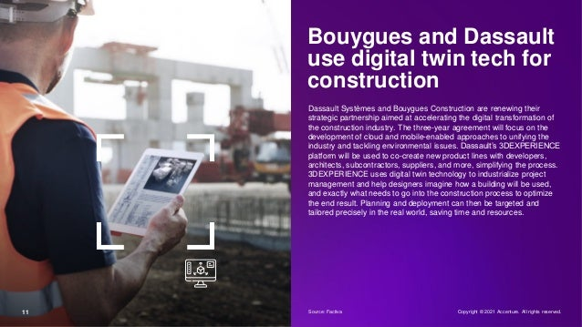 Bouygues and Dassault use digital twin tech for construction Dassault Systèmes and Bouygues Construction are renewing thei...