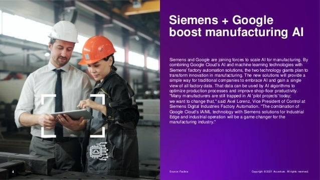 Siemens + Google boost manufacturing AI Siemens and Google are joining forces to scale AI for manufacturing. By combining ...