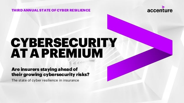 The state of cyber resilience in insurance Are insurers staying ahead of their growing cybersecurity risks? CYBERSECURITY ...