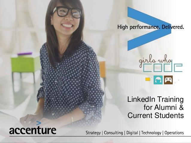 LinkedIn Training for Alumni & Current Students