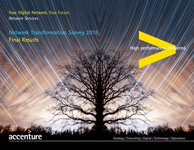 Your Digital Network. Your Future. Network Services Network Transformation Survey 2015 Final Results