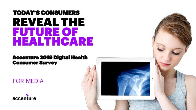 REVEAL THE FUTURE OF HEALTHCARE TODAY'S CONSUMERS Accenture 2019 Digital Health Consumer Survey FOR MEDIA