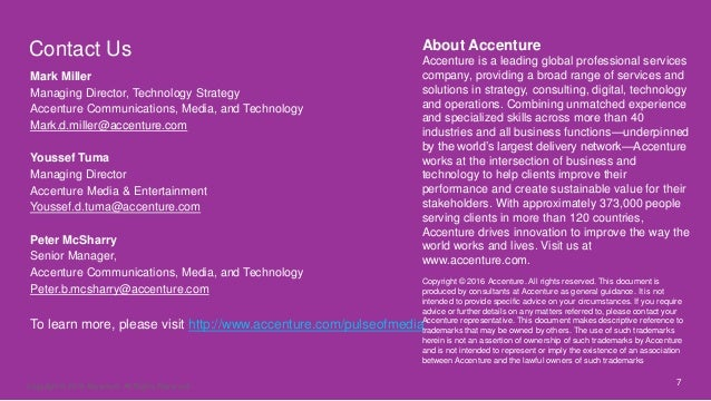 7 Contact Us About Accenture Accenture is a leading global professional services company, providing a broad range of servi...