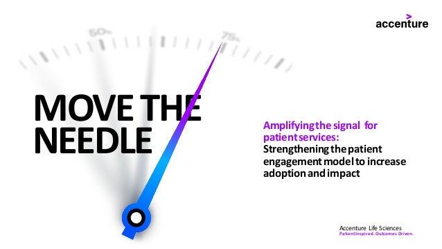 MOVETHE NEEDLE Amplifyingthesignal for patientservices: Strengtheningthepatient engagementmodeltoincrease adoptionandimpac...