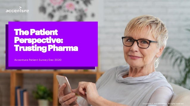Accenture Patient Survey Dec 2020 ThePatient Perspective: TrustingPharma Copyright © 2021 Accenture. All rights reserved.