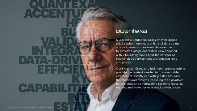 Quantexa's Contextual Decision Intelligence (CDI) platform connects billions of data points across internal and external d...