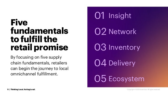 Five fundamentals tofulfillthe retailpromise By focusing on five supply chain fundamentals, retailers can begin the journe...