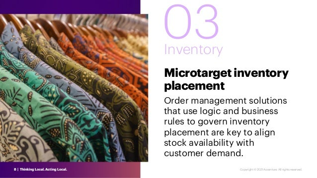 03 Inventory Microtargetinventory placement Order management solutions that use logic and business rules to govern invento...