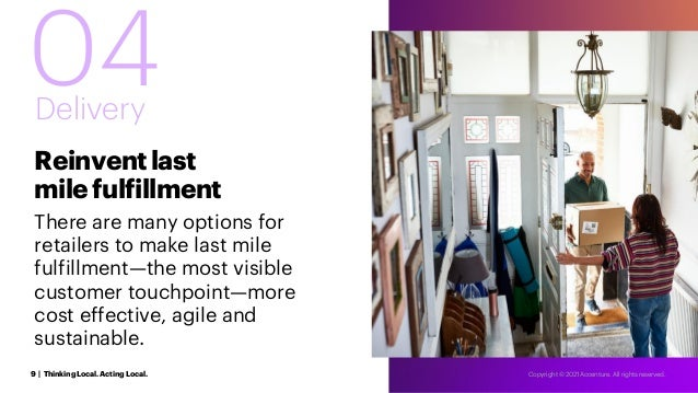 04 Delivery Reinventlast milefulfillment There are many options for retailers to make last mile fulfillment—the most visib...