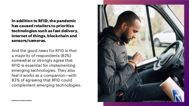 In addition to RFID, the pandemic has caused retailers to prioritize technologies such as fast delivery, internet of thing...