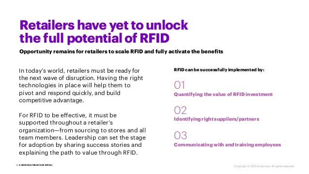 1 A NEW ERA FOR RFID IN RETAIL 2 Retailers have yet to unlock the full potential of RFID Opportunity remains for retailers...