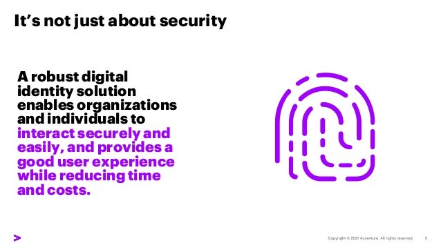 It's not just about security A robust digital identity solution enables organizations and individuals to interact securely...