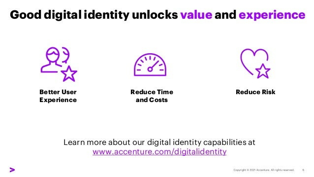 Good digital identity unlocks value and experience Better User Experience Reduce Time and Costs Reduce Risk Learn more abo...