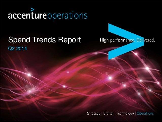 Spend Trends Report Q2 2014