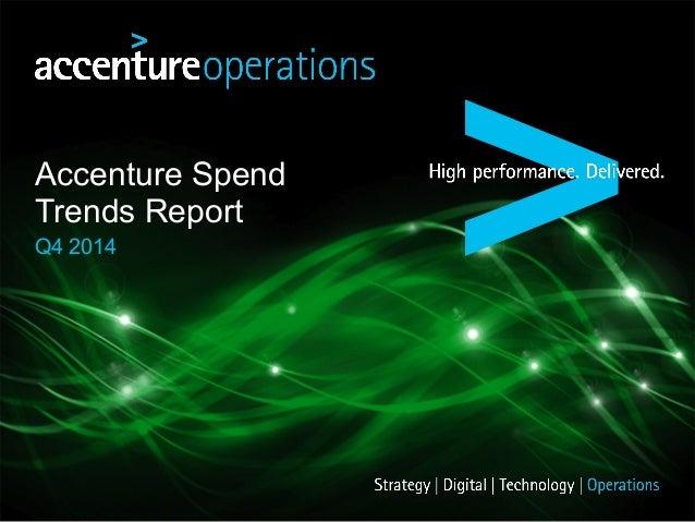 Accenture Spend Trends Report Q4 2014