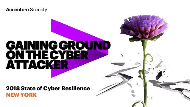 GAININGGROUND ONTHECYBER ATTACKER 2018 State of Cyber Resilience NEW YORK