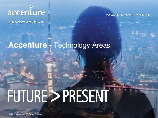 Accenture - Technology Areas1© 2012 Accenture All Rights Reserved.