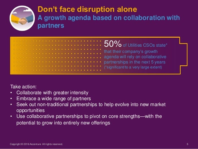 5Copyright © 2016 Accenture All rights reserved. Don't face disruption alone A growth agenda based on collaboration with p...