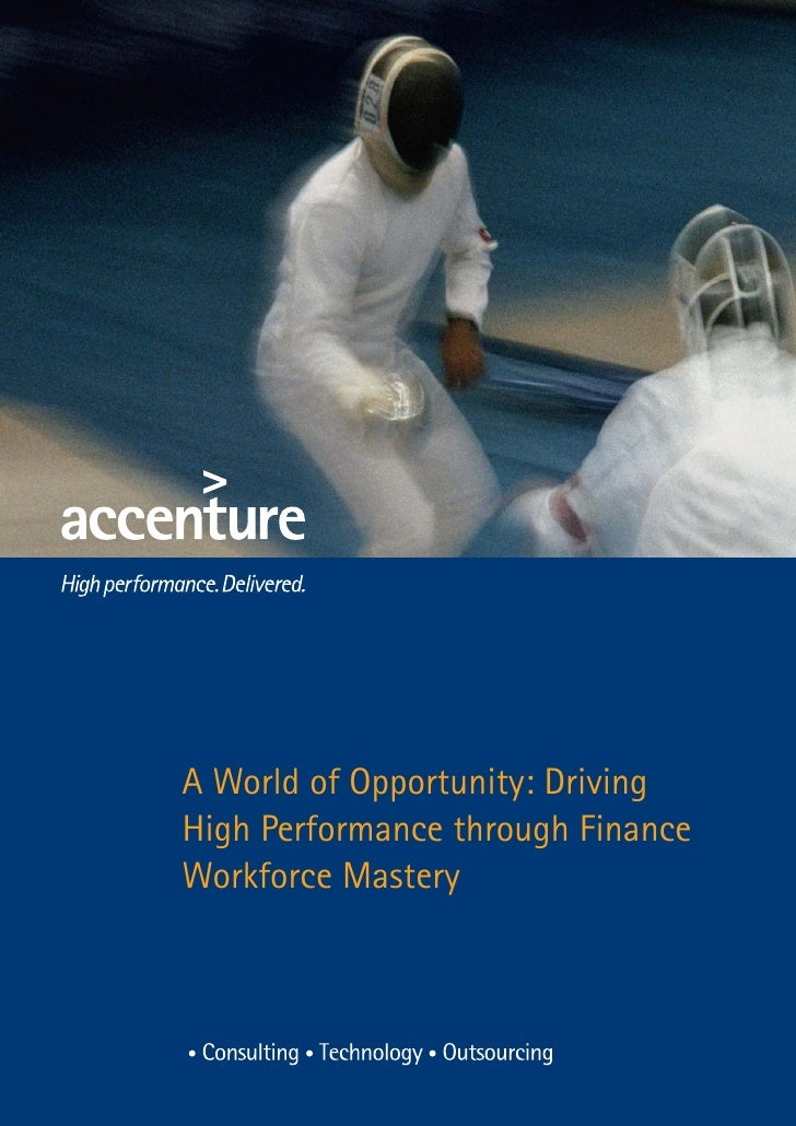 A World of Opportunity: DrivingHigh Performance through FinanceWorkforce Mastery