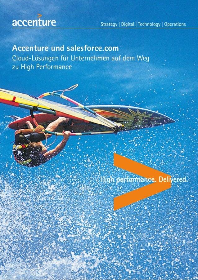Accenture und salesforce.com Cloud-Lösungen für Unternehmen auf dem Weg zu High Performance
