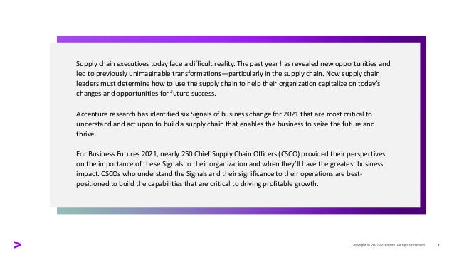 Signaling the Future for Supply Chain Success Slide 2
