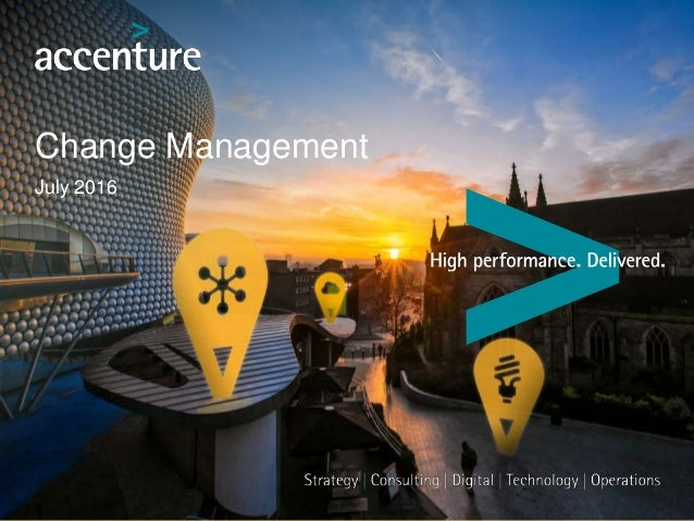 Change Management July 2016