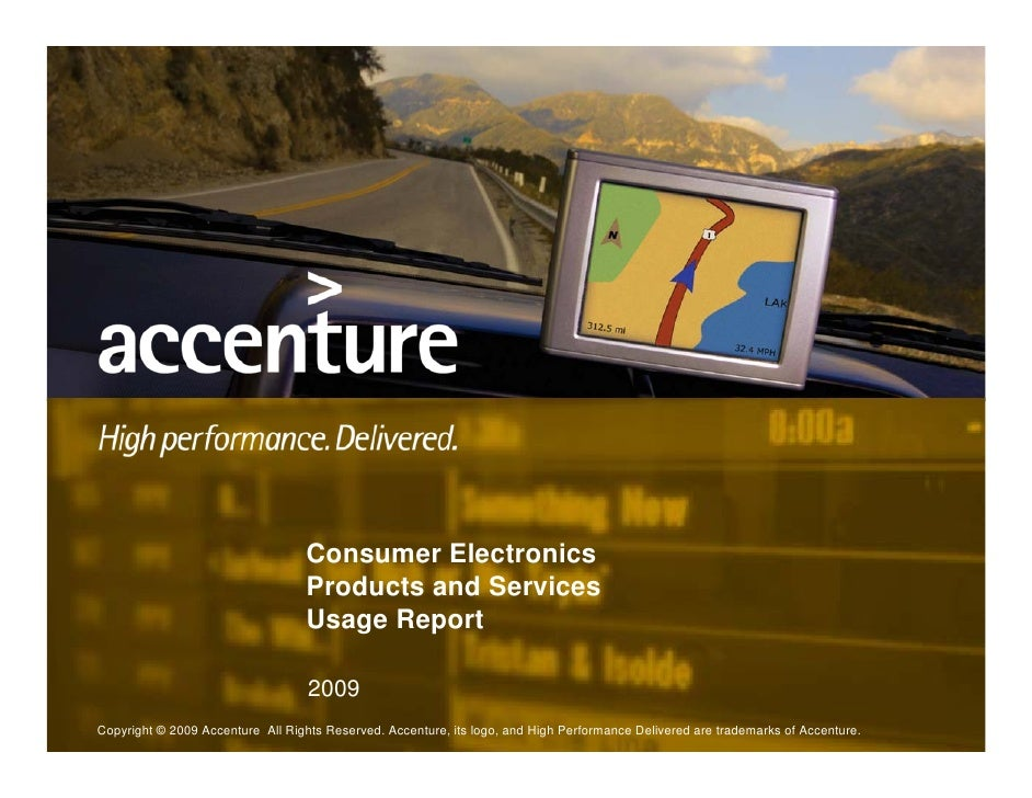 Consumer Electronics                                    Products and Services                                    Usage Rep...