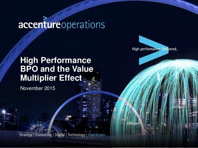 High Performance BPO and the Value Multiplier Effect November 2015 1