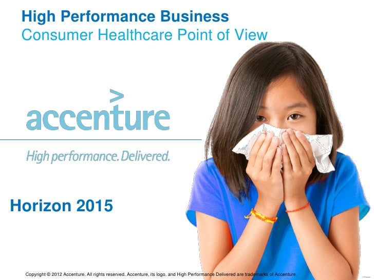 High Performance Business Consumer Healthcare Point of ViewHorizon 2015 Copyright © 2012 Accenture. All rights reserved. A...