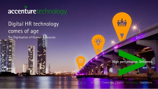 Technology Management Image: Digital HR Technology Comes Of Age. The Digitisation Of