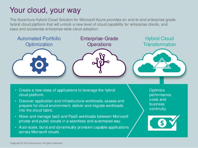 Copyright © 2014 Accenture All rights reserved.  • Create a new class of applications to leverage the hybrid  cloud platfo...