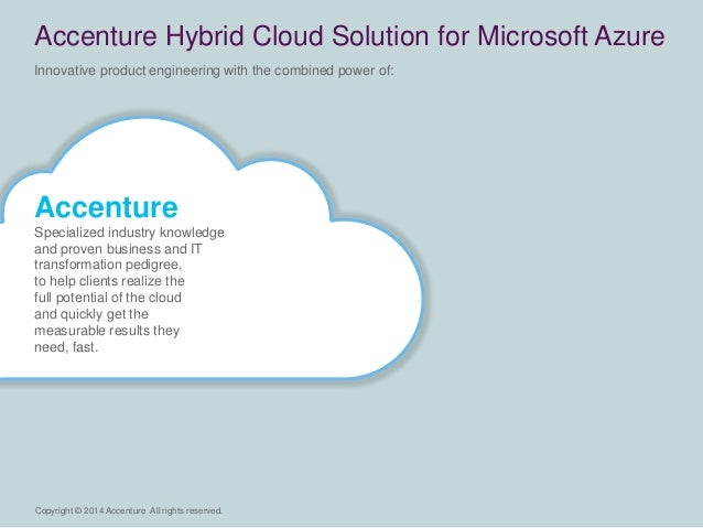 Copyright © 2014 Accenture All rights reserved.  Innovative product engineering with the combined power of:  Accenture Hyb...