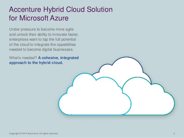 2  Copyright © 2014 Accenture All rights reserved.  Under pressure to become more agile and unlock their ability to innova...