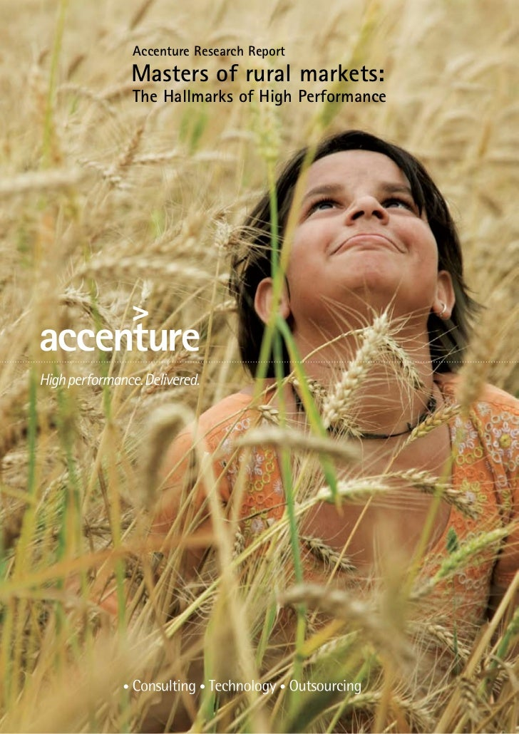 Accenture Research ReportMasters of rural markets:The Hallmarks of High Performance