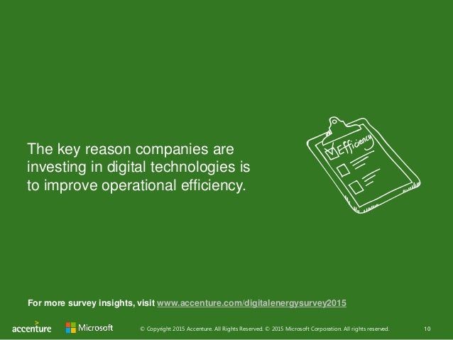 © Copyright 2015 Accenture. All Rights Reserved. © 2015 Microsoft Corporation. All rights reserved. 10 The key reason comp...