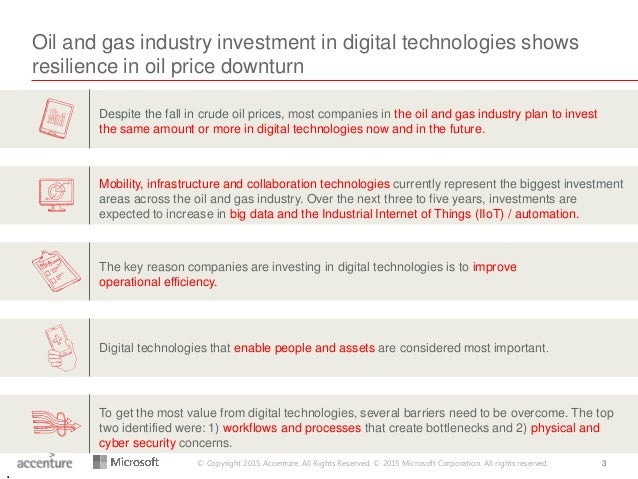 © Copyright 2015 Accenture. All Rights Reserved. © 2015 Microsoft Corporation. All rights reserved. 3 Oil and gas industry...
