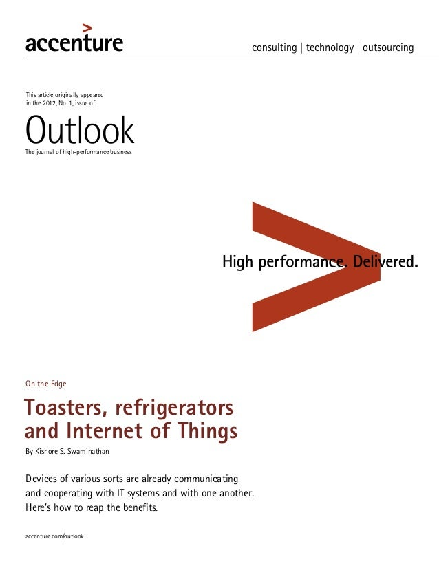This article originally appearedin the 2012, No. 1, issue ofThe journal of high-performance businessOn the EdgeToasters, r...