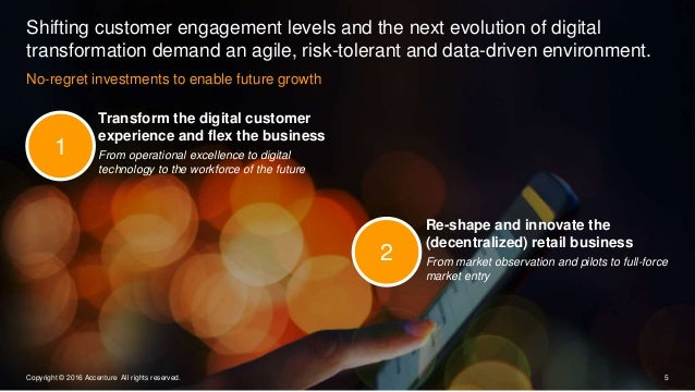 No-regret investments to enable future growth Shifting customer engagement levels and the next evolution of digital transf...