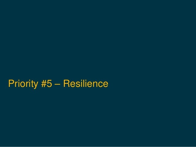 Priority #5 – Resilience