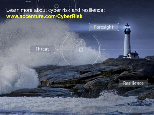 Learn more about cyber risk and resilience: www.accenture.com/CyberRisk