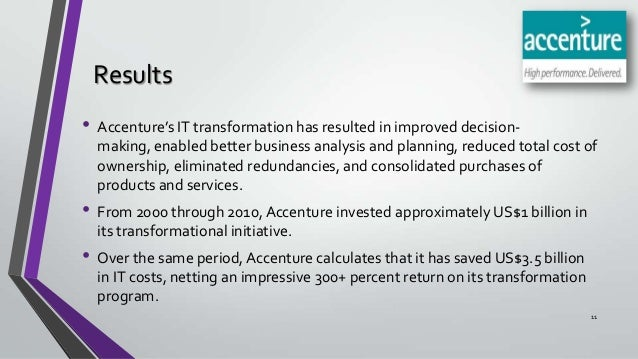 It transformation at accenture