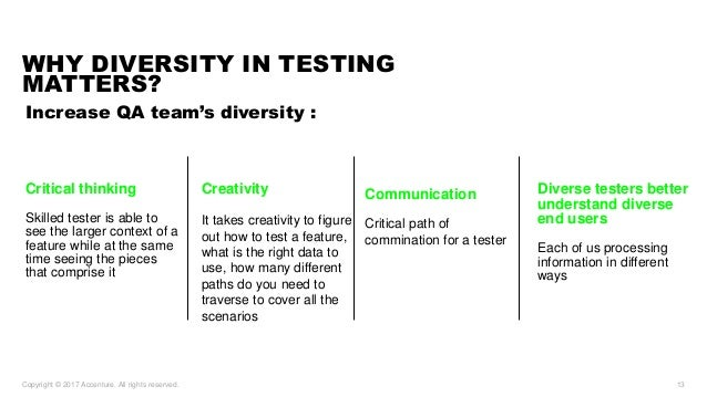 why we need diversity in testing