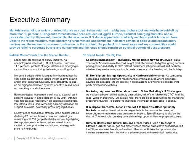 Accenture Spend Trends Report Q3 2014 Slide 3