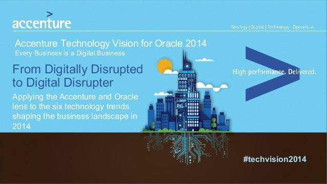 Accenture Technology Vision For Oracle 2014