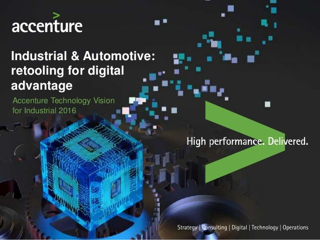 Accenture Technology Vision For Industrial 2016